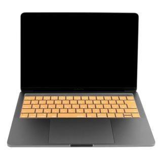 キースキン 2016 MacBook Pro 13インチ& 15インチ Touch BarとTouch ID対応 キーボードカバー オレンジ【6月上旬】