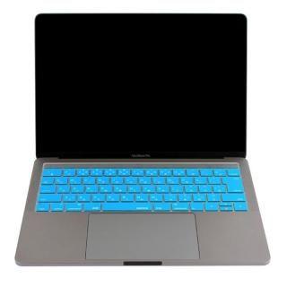 キースキン 2016 MacBook Pro 13インチ& 15インチ Touch BarとTouch ID対応 キーボードカバー ブルー【6月上旬】