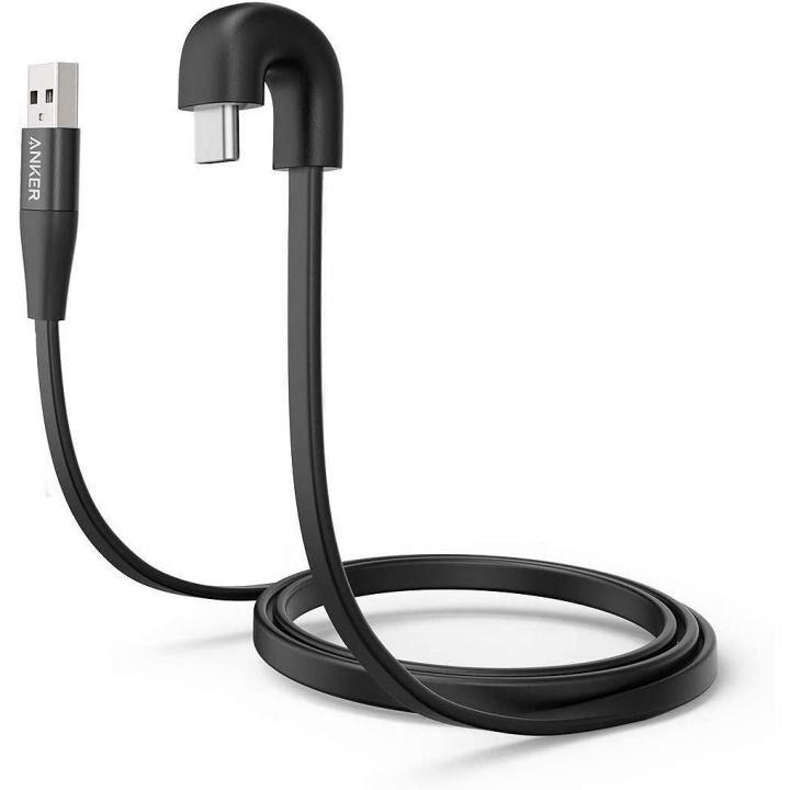 Anker PowerLine Play 180 USB-C & USB-A ケーブル 0.9m ブラック_0