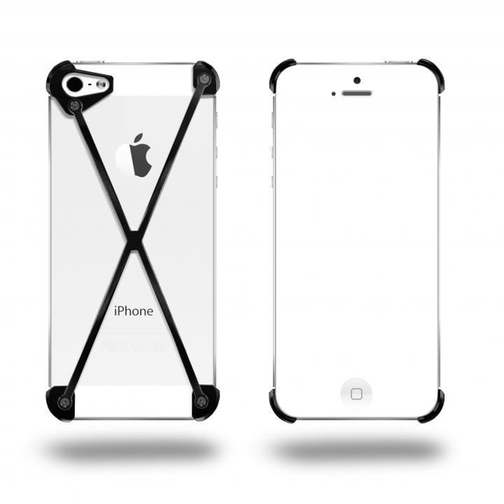 【iPhone SE/5s/5ケース】端末の美しさを活かす RADIUS All Slate X ブラック・ブラック iPhone 5s/5ケース_0