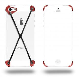 端末の美しさを活かす RADIUS Red&Slate X ブラック・レッド iPhone 5s/5ケース