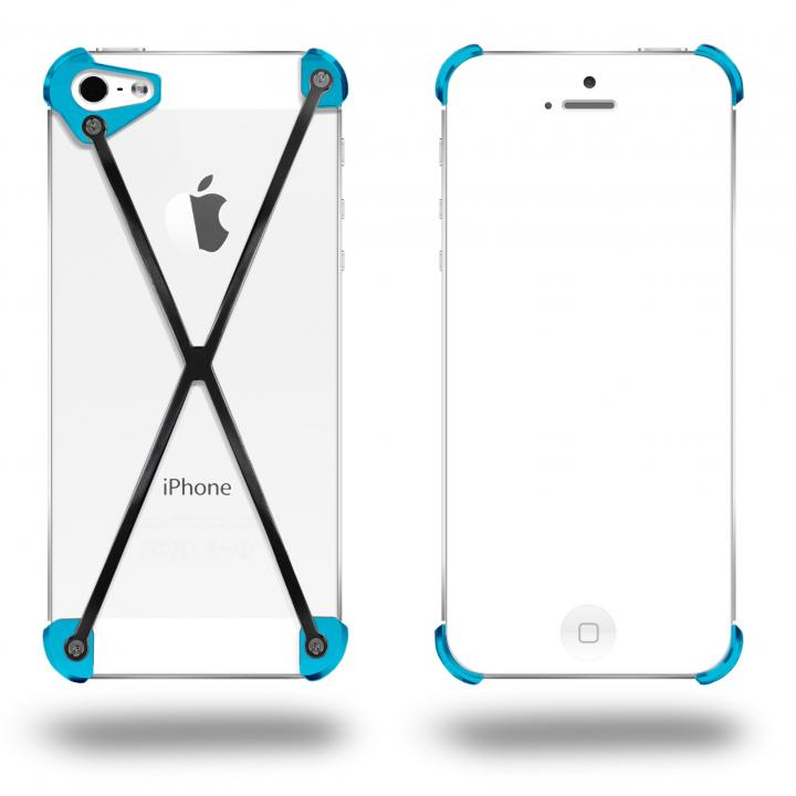 iPhone SE/5s/5 ケース 端末の美しさを活かす RADIUS Cyan&Slate X ブラック・シアン iPhone 5s/5ケース_0