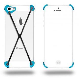 端末の美しさを活かす RADIUS Cyan&Slate X ブラック・シアン iPhone 5s/5ケース