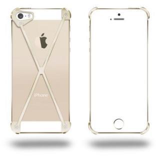 iPhone SE/5s/5 ケース 端末の美しさを活かす RADIUS All Gold X ゴールド iPhone 5s/5ケース