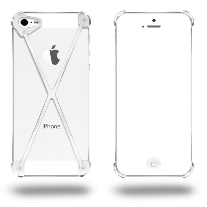端末の美しさを活かす RADIUS All Polished X ホワイト・ホワイト iPhone 5s/5ケース