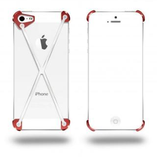 端末の美しさを活かす RADIUS Red&Polished X ホワイト・レッド iPhone 5s/5ケース
