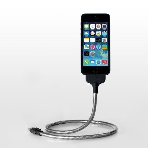 [60cm] 自由に曲げてiPhoneスタンドになる UNE BOBINE Ligtningケーブル_0