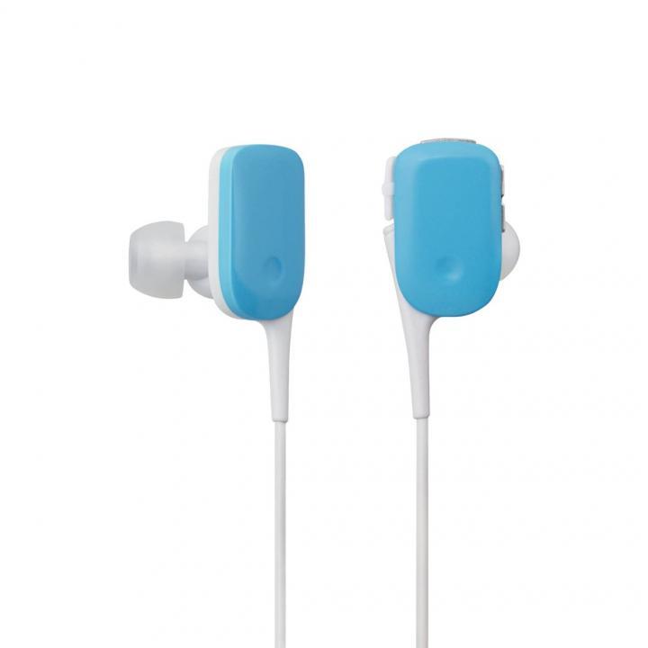 軽量12gでコンパクト Bluetooth ワイヤレスイヤホン ブルー_0