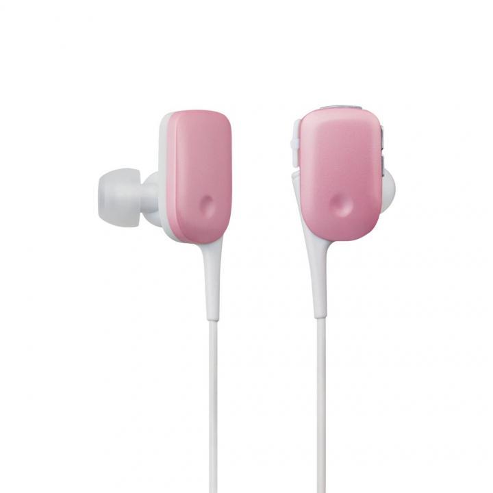 軽量12gでコンパクト Bluetooth ワイヤレスイヤホン ピンク_0