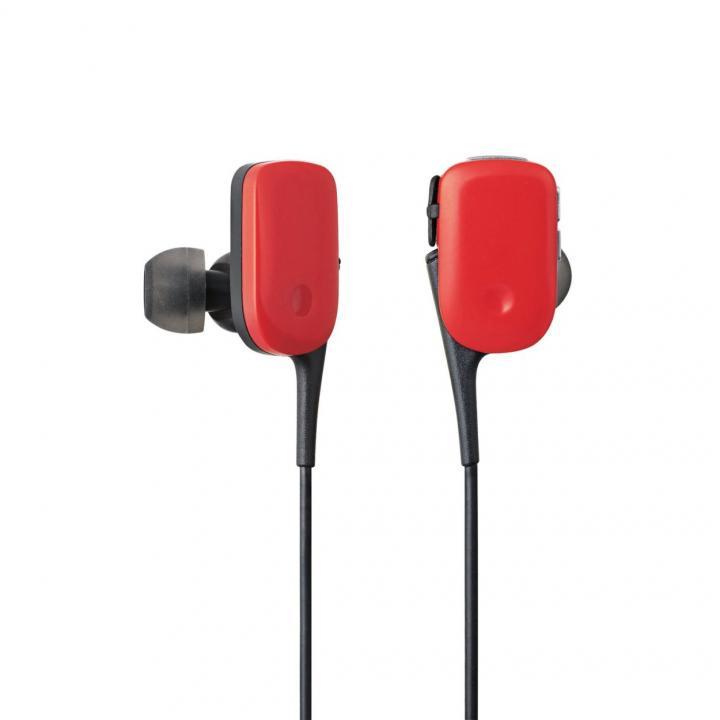 軽量12gでコンパクト Bluetooth ワイヤレスイヤホン レッド_0