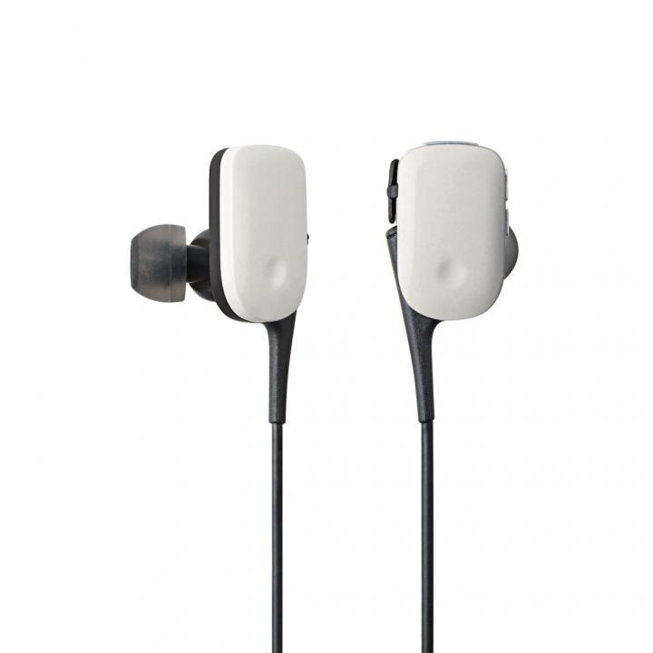 軽量12gでコンパクト Bluetooth ワイヤレスイヤホン ホワイト_0