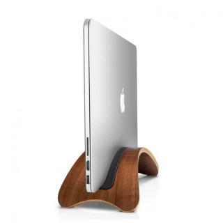 木材を研磨して作られたスタンド Twelve South BookArc MacBook ウォールナット