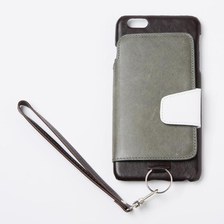RAKUNI レザー手帳型ケース with ストラップ アマゾン iPhone 6s Plus/6 Plus