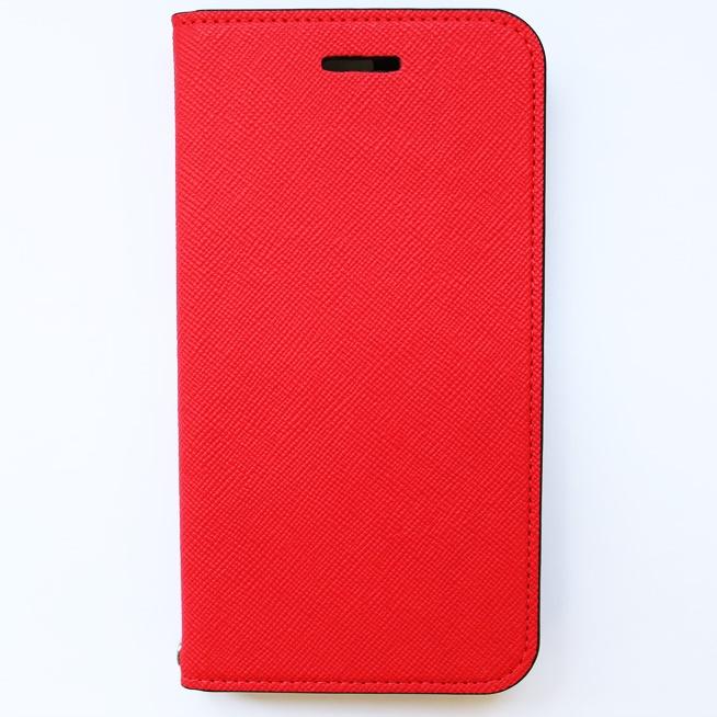 invite.L イタリアンPU手帳型ケース レッド iPhone 6