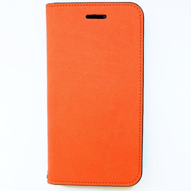 【iPhone6ケース】invite.L イタリアンPU手帳型ケース オレンジ iPhone 6_0