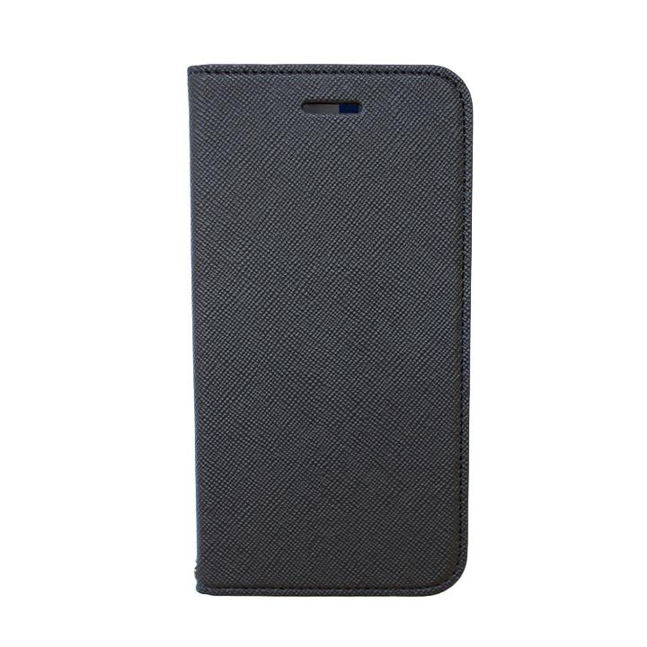 【iPhone6ケース】invite.L イタリアンPU手帳型ケース ブラック/ブルー iPhone 6_0