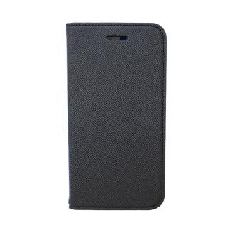 invite.L イタリアンPU手帳型ケース ブラック/ブルー iPhone 6
