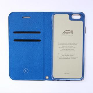 【iPhone6ケース】invite.L イタリアンPU手帳型ケース ブラック/ブルー iPhone 6_1