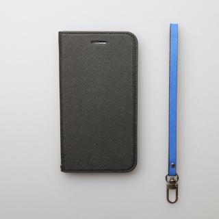 【iPhone6ケース】invite.L イタリアンPU手帳型ケース ブラック/ブルー iPhone 6_3