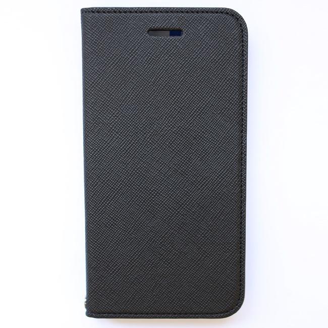 invite.L イタリアンPU手帳型ケース ブラック/グレー iPhone 6