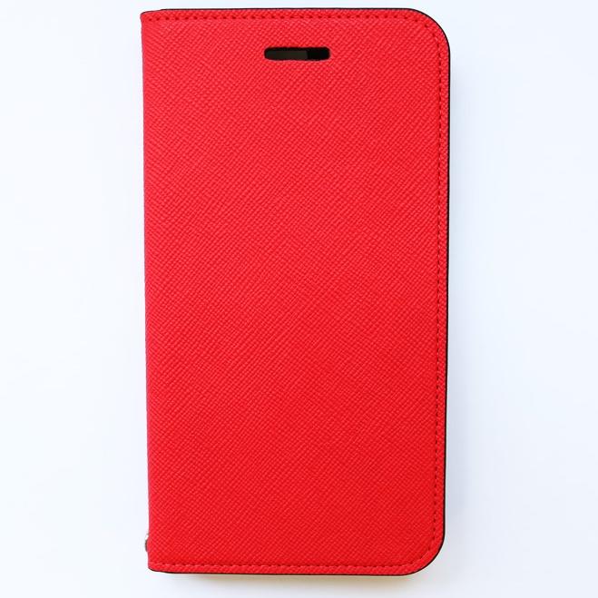 invite.L イタリアンPU手帳型ケース Plus ケース レッド iPhone 6s Plus/6 Plus
