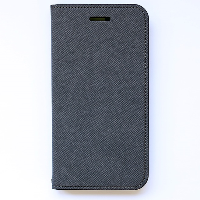 invite.L イタリアンPU手帳型ケース グレー iPhone 6