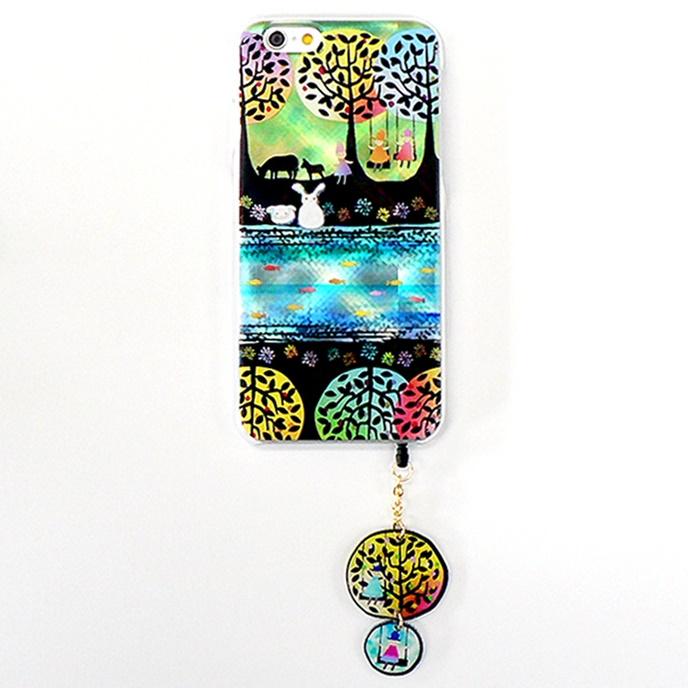 ハードケース&イヤホンジャックセット shinyプラスシルエットシリーズ うさぎ iPhone 6