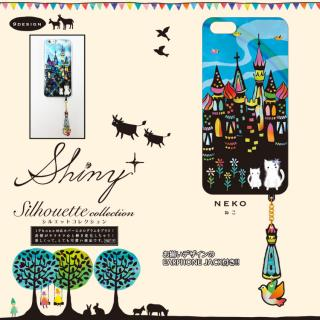 【iPhone6ケース】ハードケース&イヤホンジャックセット shinyプラスシルエットシリーズ ねこ iPhone 6_1