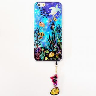 ハードケース&イヤホンジャックセット shinyプラスシルエットシリーズ かめ iPhone 6
