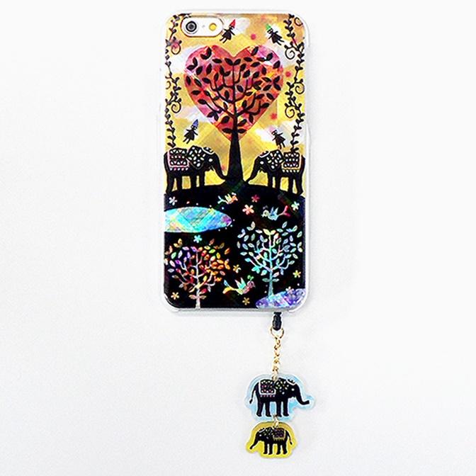 【iPhone6ケース】ハードケース&イヤホンジャックセット shinyプラスシルエットシリーズ ぞう iPhone 6_0