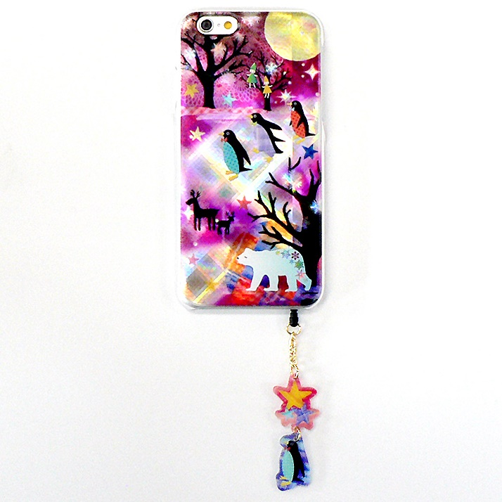 ハードケース&イヤホンジャックセット shinyプラスシルエットシリーズ しろくま iPhone 6
