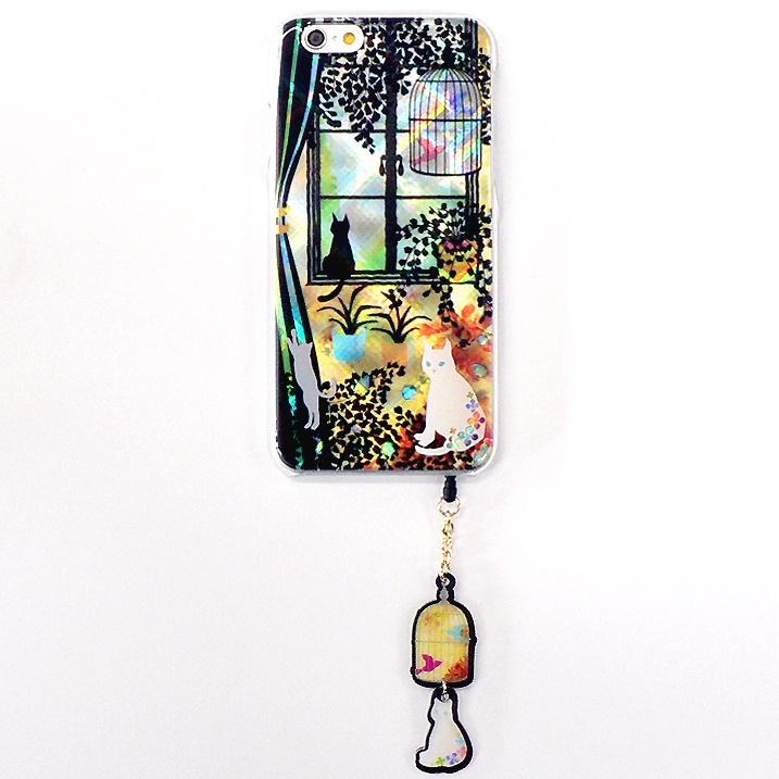 【iPhone6ケース】ハードケース&イヤホンジャックセット shinyプラスシルエットシリーズ こねこ iPhone 6_0