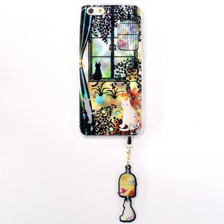 ハードケース&イヤホンジャックセット shinyプラスシルエットシリーズ こねこ iPhone 6