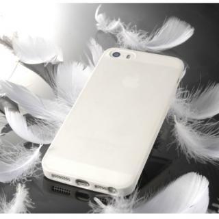 【6月5日まで先行特価】薄さ0.34mmシリコンケース ゼロフォルム ホワイト iPhone 5s/5ケース