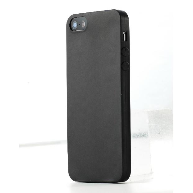 薄さ0.34mmシリコンケース ゼロフォルム ブラック iPhone SE/5s/5ケース