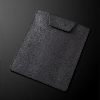日本製高級牛皮 タブレットシングルポーチ ブラック