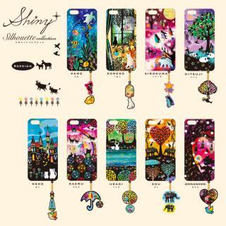 【iPhone6ケース】ハードケース&イヤホンジャックセット shinyプラスシルエットシリーズ こねこ iPhone 6_3