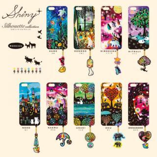【iPhone6ケース】ハードケース&イヤホンジャックセット shinyプラスシルエットシリーズ 女の子 iPhone 6_3
