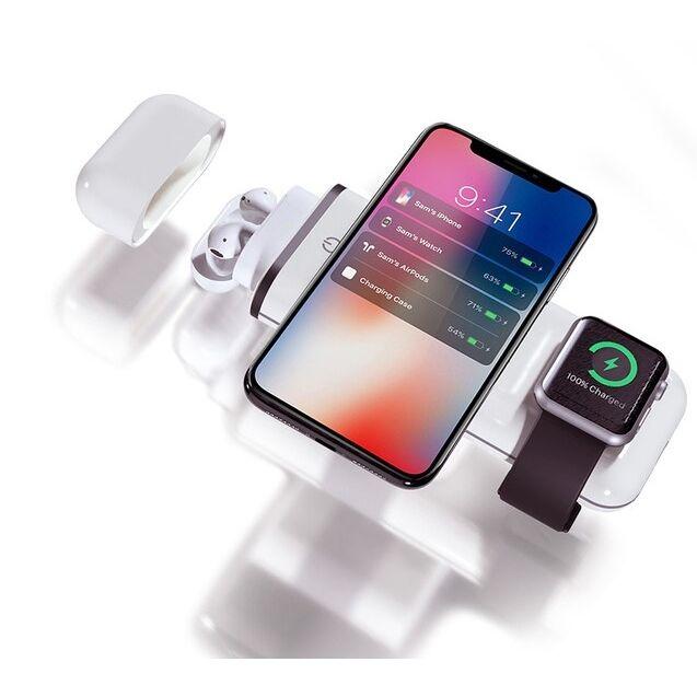 All-in-1 for Apple 10000mAh 無線モバイルバッテリー AirAlly(エアーアリー) ホワイト_0