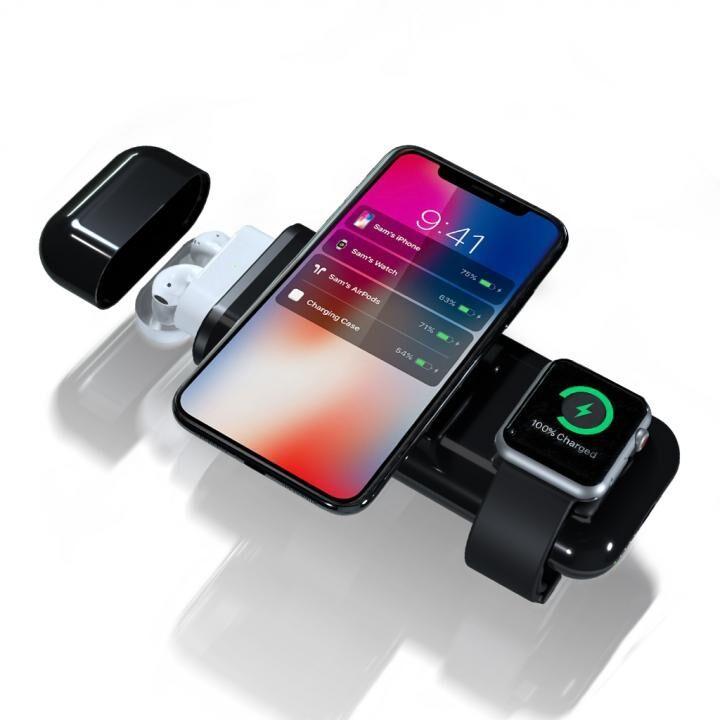All-in-1 for Apple 10000mAh 無線モバイルバッテリー AirAlly(エアーアリー) ブラック_0
