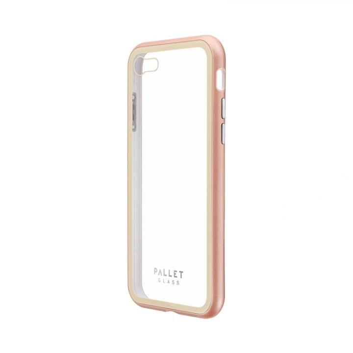 ガラスハイブリッドケース「PALLET GLASS」 クリアゴールド iPhone SE 第2世代_0