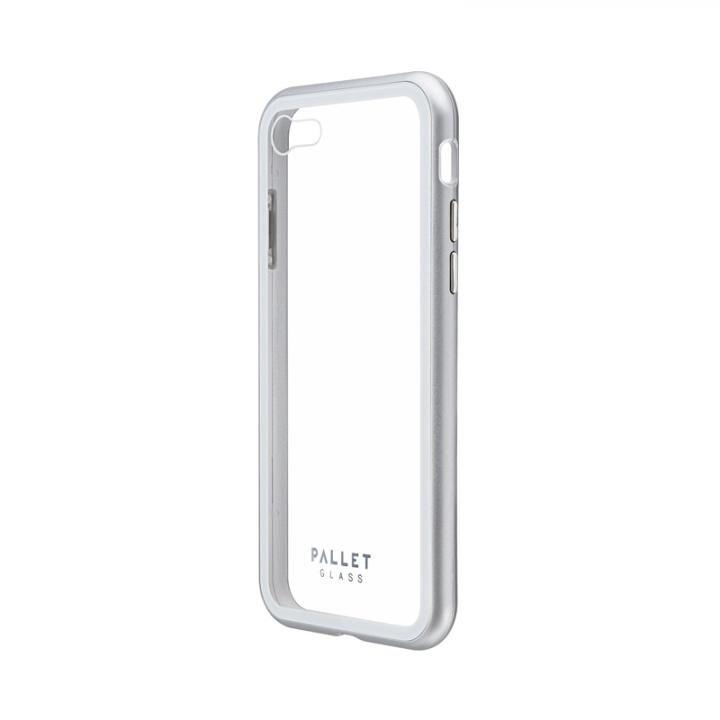 ガラスハイブリッドケース「PALLET GLASS」 クリアシルバー iPhone SE 第2世代_0