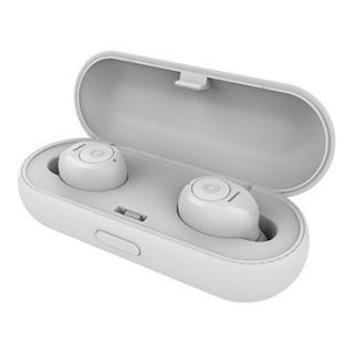 イヤホン収納式充電ケース付き Bluetooth4.2対応完全ワイヤレスイヤホン BT808 ホワイト_1