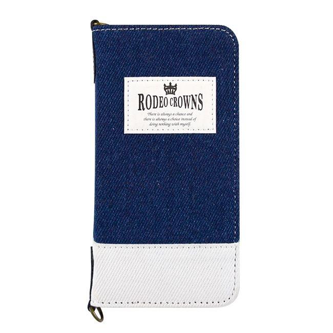 iPhone8/7 ケース RODEO CROWNS TAG 手帳型ケース インディゴブルー iPhone 8/7_0