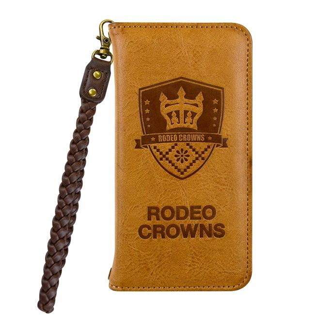 iPhone8/7 ケース RODEO CROWNS LEATHER 手帳型ケース ブラウン iPhone 8/7_0