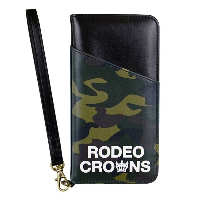 iPhone8/7 ケース RODEO CROWNS CAMOUFLAGE 手帳型ケース ダークグリーン iPhone 8/7_0