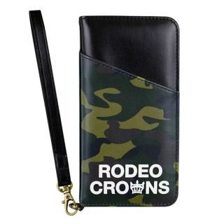 iPhone8/7 ケース RODEO CROWNS CAMOUFLAGE 手帳型ケース ダークグリーン iPhone 8/7
