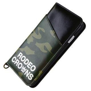 【iPhone8/7ケース】RODEO CROWNS CAMOUFLAGE 手帳型ケース ダークグリーン iPhone 8/7_1