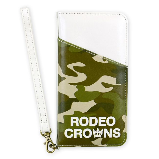 【iPhone8/7ケース】RODEO CROWNS CAMOUFLAGE 手帳型ケース カーキ iPhone 8/7_0