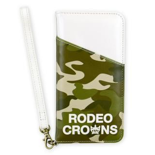RODEO CROWNS CAMOUFLAGE 手帳型ケース カーキ iPhone 8/7